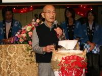 最年長の大北さんのスピーチは、 ユーモアたっぷり!