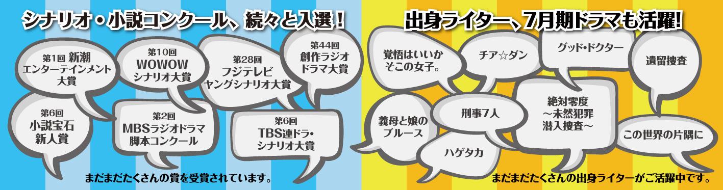 シナリオ・小説コンクール続々と入選!